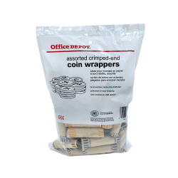 Office Depot® Brand Preformed Tubular Coin Wrappers, Assorted, Pack Of 48