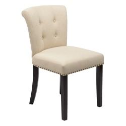 Ave Six Kendal Chair, Linen/Light Brown/Gold