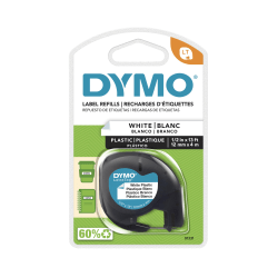 "DYMO® LT 91331 Black-On-White Tape, 0.5"" x 13'"