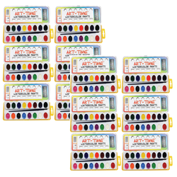 Sargent Art Art-Time Watercolor Paint Sets, 16 Assorted Colors, Pack Of 12 Sets
