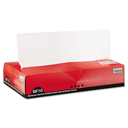 """Bagcraft QF10 Interfolded Dry Wax Paper, 10"""" x 10 1/4"""", White, 500 Sheets Per Box, Carton Of 12 Boxes"""