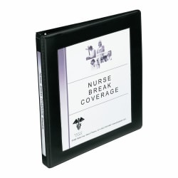 "Avery® Framed View Binder With One-Touch EZD™ Rings, 8 1/2"" x 11"", 1/2"" Rings, 45% Recycled, Black"