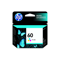 HP 60, 50% Recycled, Tricolor Original Ink Cartridge (CC643WN)