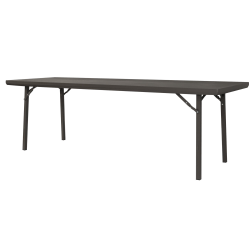 """Cosco Folding Table, Rectangle, 30""""H x 96""""W, Brown"""