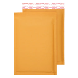"""Office Depot® Brand Self-Sealing Bubble Mailers, Size 0, 6"""" x 9 1/8"""", Pack Of 25"""