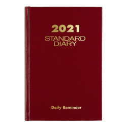 """AT-A-GLANCE® Standard Daily Diary, 5"""" x 7-1/2"""", Red"""