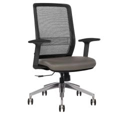 Sinfonia Sing Ergonomic Mesh Mid-Back Task Chair, Gray/Black