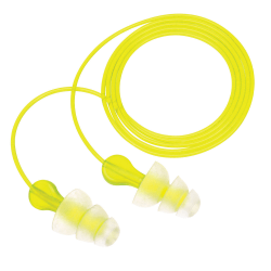 3M™ Tri-Flange Reusable Ear Plugs, Lime, Pack Of 100
