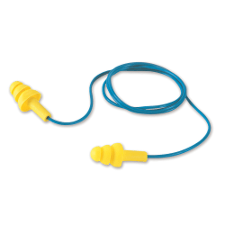 3M™ UltraFit Corded Ear Plugs, Blue/Yellow, Pack Of 100