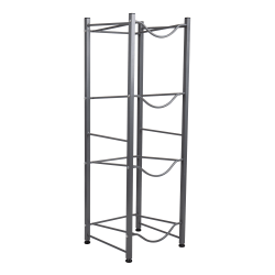 "Mind Reader 4-Tier Water Cooler Jug Rack, 41 3/8""H x 13 7/16""W x 13 7/16""D, Silver"