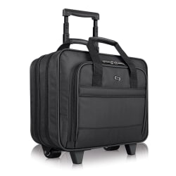 """Solo New York Carnegie Rolling Case with 15.6"""" Laptop Pocket, Black"""