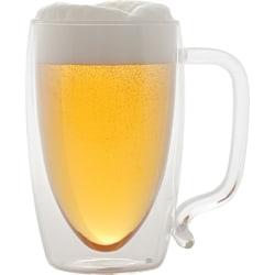 Starfrit 17-ounce Double-wall Glass Beer Mug - 17 fl oz - Clear - Borosilicate Glass - Beverage