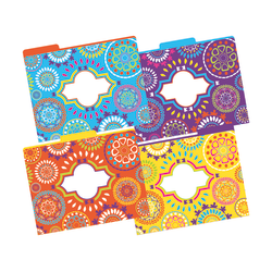 "Barker Creek Tab File Folders, 8 1/2"" x 11"", Letter Size, Moroccan, Pack Of 12"