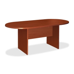 """Lorell® Essentials Oval Conference Table, 72""""W, Cherry"""