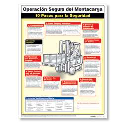 """ComplyRight™ Forklift Safety Poster, Spanish, 18"""" x 24"""""""