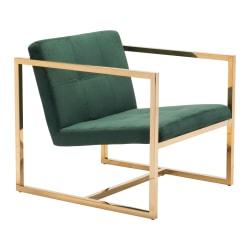 Zuo Modern Alt Arm Chair, Green/Gold