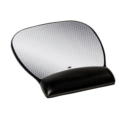 3M™ Precise™ Mouse Pad With Gel Wrist Rest, Large, Black