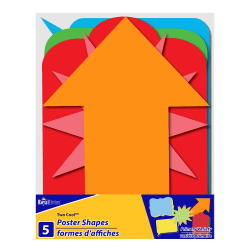 "Royal Brites Pre-Cut Poster Board Shapes, 11"" x 14"", Assorted Colors, Pack Of 5"
