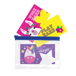 """So-Mine Printed Lunch Box Note Cards, 2"""" x 3-1/2"""", Assorted Colors, Pack Of 24 Cards"""