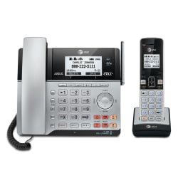 AT&T TL86103 DECT 6.0 2-Line Corded/Cordless Phone System With Bluetooth Connect To Cell