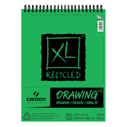 "Canson XL Drawing Pads, 11"" x 14"", 60 Sheets Per Pad, Pack Of 2 Pads"