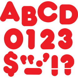 "Trend Reusable 2"" Ready Alphabet Letters Set - 100, 20 (Capital Letter, Punctuation Marks) Shape - Casual Style - Precut - 2"" Height - Red - Paper - 1 Pack"