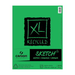 "Canson XL Sketch Pads, Fold-Over, 11"" x 14"", 100 Sheets, Pack Of 3"