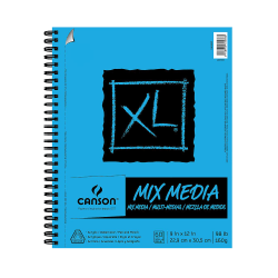 """Canson XL Mix Media Pads, 9"""" x 12"""", 60 Sheets, Pack Of 2"""