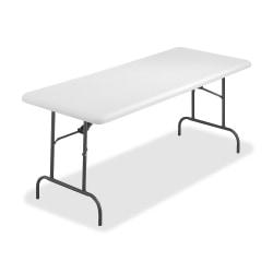 "SKILCRAFT Lightweight Folding Table, 29""H x 30""W x 72""D, Platinum"