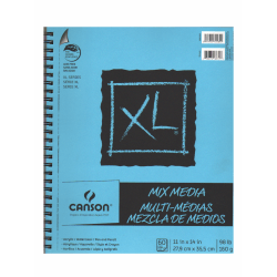 "Canson XL Mix Media Pads, 11"" x 14"", 60 Sheets, Pack Of 2"