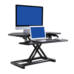 "FlexiSpot AlcoveRiser Sit-To-Stand Corner Desk Converter, 35""W, Black"