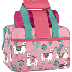 "Thermos® Llamas Insulated Lunch Kit, 6-3/16""H x 9-1/4""W x 5""D, Pink/Seafoam"