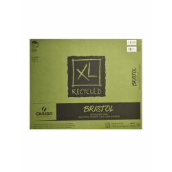 "Canson XL Recycled Bristol Pad, 14"" x 17"", Fold-Over, Pad Of 25 Sheets"