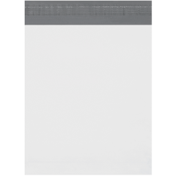 "Office Depot® Brand Expansion Poly Mailers, 11""H x 13""W x 2""D, White, Case Of 100"