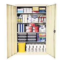 "Sandusky® Jumbo Steel Storage Cabinet, 72""H x 46""W x 24""D, Putty"