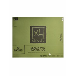 "Canson XL Recycled Bristol Pad, 19"" x 24"", Fold-Over, Pad Of 25 Sheets"