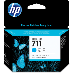 HP 711 Original Ink Cartridge - Multi-pack - Inkjet - Cyan - 3 / Pack
