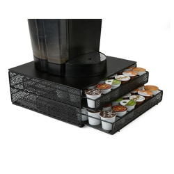 Mind Reader K-Cup® Pods Storage Drawer, 72-Pod Capacity, Black