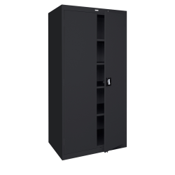 "Sandusky® Jumbo Steel Storage Cabinet, 72""H x 46""W x 24""D, Black"