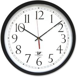 "Chicago Lighthouse 14.5"" Selfset Wall Clock - Analog - Quartz - White Main Dial - Black/Polystyrene Case - Black Finish"