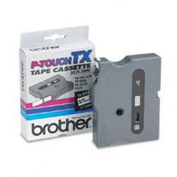 """Brother® TX-2311 Black-On-White Tape, 0.5"""" x 50'"""