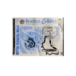 "Borden & Riley #110M Technical Vellum, 18"" x 24"", Bright White, Pad Of 50 Sheets"
