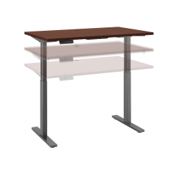 "Bush Business Furniture Move 60 Series 48""W x 30""D Height Adjustable Standing Desk, Harvest Cherry/Black Base, Standard Delivery"