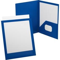 Oxford® ViewFolio Twin-Pocket Folder, Blue