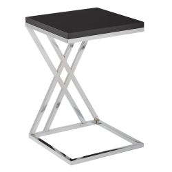 Ave Six Wall Street Table, Coffee, Square, Black/Chrome