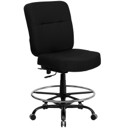Flash Furniture Hercules Big And Tall Drafting Chair, Black