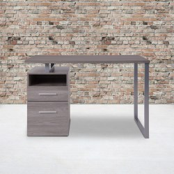"""Flash Furniture 47""""W Harwood Desk, Light Ash"""