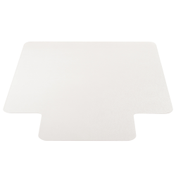 """Deflect-O DuoMat® Chair Mat With Lip For Low-Pile Carpet And Hard Floors, Rectangular, 45"""" x 53"""", Clear"""