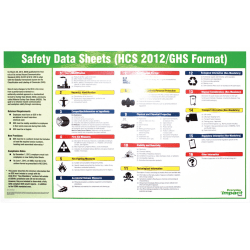 "Impact Products GHS Safety Data Sheet English Poster - 24"" Width x 0.8"" Height - Multicolor"