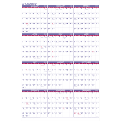 """AT-A-GLANCE® Yearly Wall Calendar, 24"""" x 36"""", January To December 2022, PM1228"""